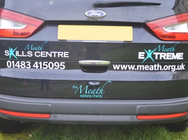 Skills Centre and Extreme Logos on the Meath car