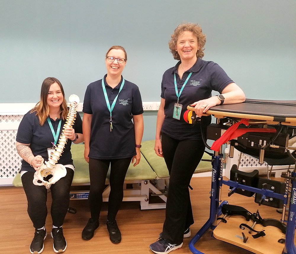 Stacey S & Louise C, Physiotherapy Assistants with Jo Jo Neuro-Physiotherapist