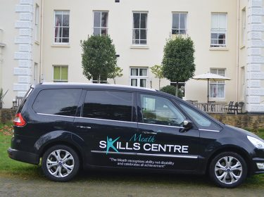 Skills Centre Logo on the Meath car