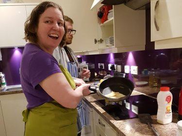 Cooking at home at Thursley