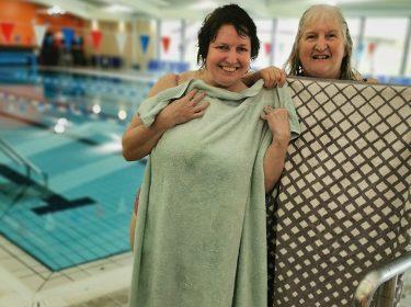 Mel & Sharon Swimming