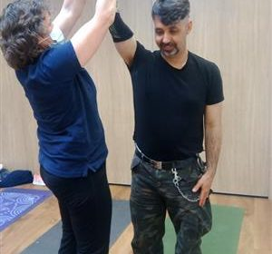 With Jo-Jo in a Physio Session